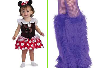 Girl in Mimi Mouse Dress and Girl With Furry Boots